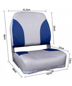 Set of 2 Swivel Folding Marine Boat Seats Grey Blue Melbourne CBD Melbourne City Preview