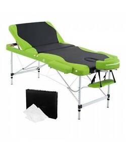 Aluminium Massage Table 3 Fold Green Black Melbourne CBD Melbourne City Preview