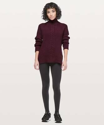 Lululemon Women's Bring The Cozy Turtleneck Sweater DKAD Dark Adobe Size 2