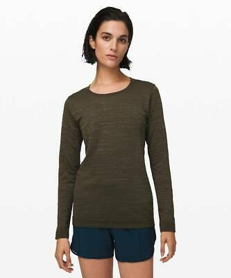 Lululemon Women's Swiftly Relaxed Long Sleeve Shirt DKOV/FATG Dark Olive Fatigue