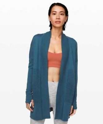 Lululemon Women's Sit In Lotus Wrap II Sweater PTRB Petrol Blue
