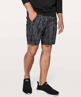 Lululemon Men's Pace Breaker Short Lined MABS Matchstick Asphalt Grey Black XL