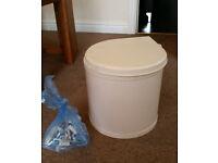 Auto-open hideaway kitchen bin and fixings