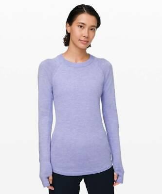 Lululemon Women's Sit In Lotus Sweater HLVD Heathered Lavender Dusk