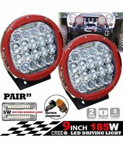 PAIR 185W CREE LED Driving Light Offroad Spotlights DRL Replace H Melbourne CBD Melbourne City Preview