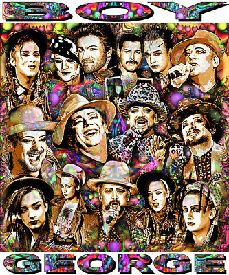 Boy George  Tribute T Shirt Or Print By Ed Seeman