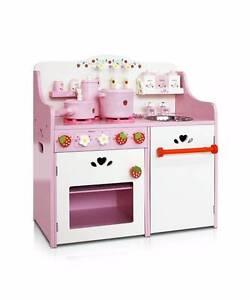 Children Wooden Kitchen Play Set Pink Melbourne CBD Melbourne City Preview