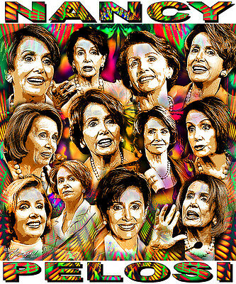 Nancy Pelosi  Tribute T Shirt Or Print By Ed Seeman