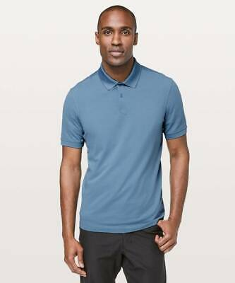 Lululemon Men's Tech Pique Polo Shirt UTYB Utility Blue Size Medium