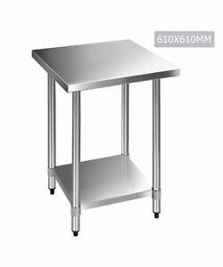 430 Stainless Steel Kitchen Work Bench Table 610mm Melbourne CBD Melbourne City Preview