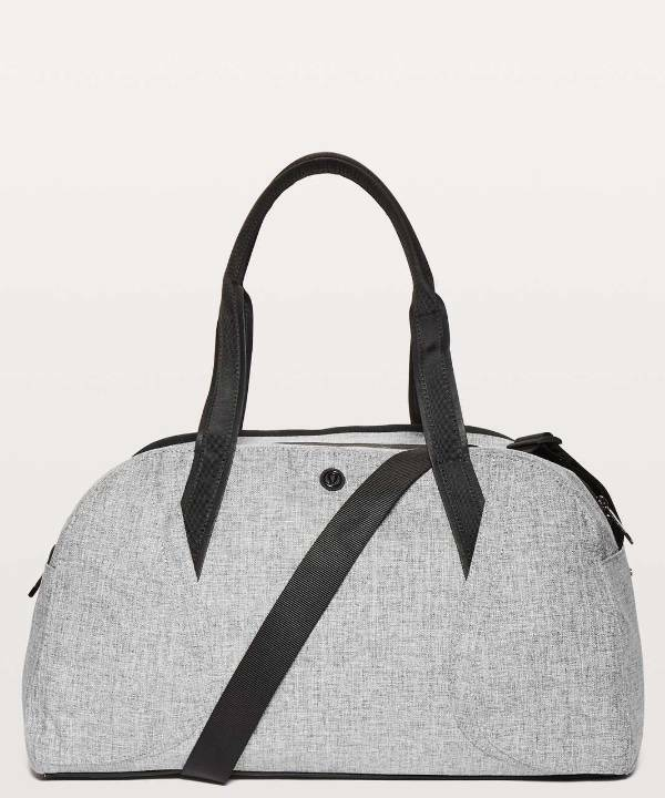 Lululemon Women's Out of Range Duffel HBLK Heathered Black
