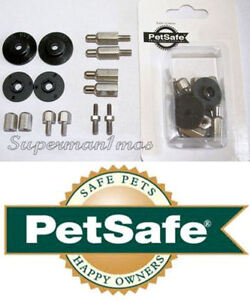 PETSAFE INNOTEK WIRELESS GROUND FENCE COLLAR POSTS PRONG PRONGS 14PC PARTS KIT