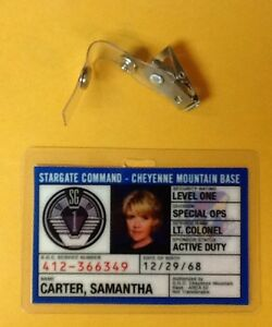 Stargate-Command-SG-1-ID-Badge-Lt-Colonel-Samantha-Carter-cosplay-prop-costume