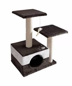 Cat Scratching Poles Post Furniture Tree 70cm White Dark Grey Melbourne CBD Melbourne City Preview