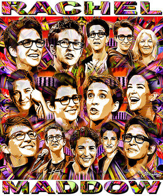 Rachel Maddow  Tribute  12 X 14  Poster Print By Ed Seeman
