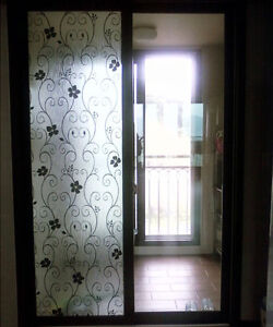 Removable-Frosted-Frosting-Frost-Window-Film-Privacy-Damask-Black-92cmx1m