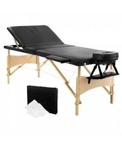 Portable Wooden 3 Fold Massage Table Chair Bed White 70 cm Melbourne CBD Melbourne City Preview