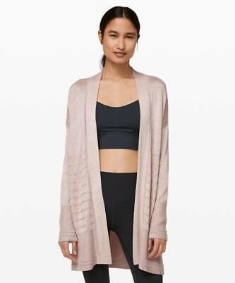 Lululemon Graceful Embrace Wrap Cardigan Sweater HPBI Heathered Pink Bliss