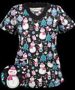 CHRISTMAS PRINT SCRUB TOP - 3XL / 20-22 SIZE Tweed Heads South Tweed Heads Area Preview