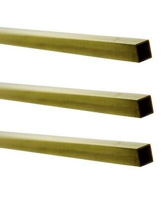 Square Hollow Brass Tubes 3-pack 316 O.d. X .159 I.d. X 12 Long Mill