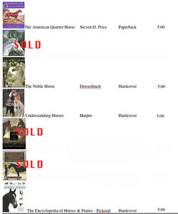 NEW PRICE:$70.00 25 Horse Books REDUCED FROM $90.00 the lot