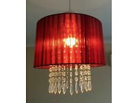 Burgundy ceiling lightshade