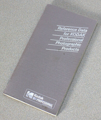 REFERENCE DATA FOR KODAK PROFESSIONAL PHOTOGRAPHIC PRODUCTS – 1988