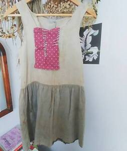 Antique Patched Peasant Shirt/Dress- for COSTUME