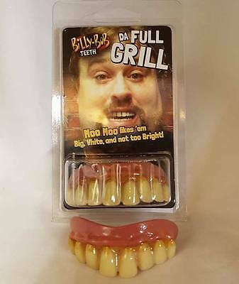 Offiziell Lizenziert Billy Bob Kostüm Zähne Full Grill Hell Fleck Neu