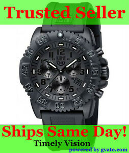 *Luminox Navy Seal Colormark Chronograph Blackout Men's Watch 3081.bo*