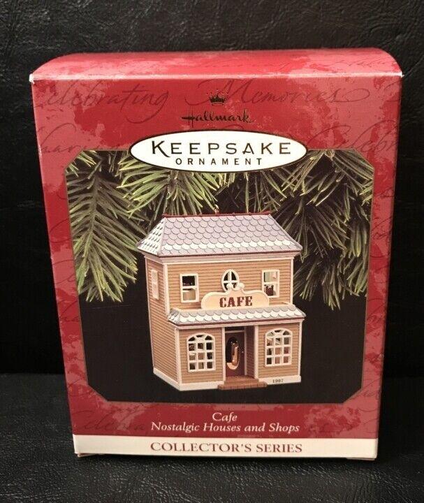 Hallmark Ornament Cafe 1997 MIB 14th Nostalgic Houses & Shops Christmas