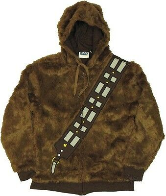 Star Wars I Am Chewbacca Wookie Costume Zip Up Furry Hoodie