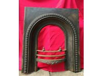 Cast iron fire surround - prepped for painting