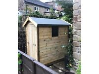 Pressure treated 6x4 apex shed