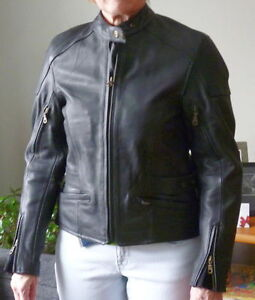 "Ladies Triumph ""armored"" motorcycle jacket"