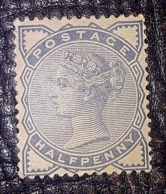 *GREAT BRITAIN, SCOTT # 98, 1/2p. SLATE BLUE 1884