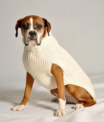 Dog Sweater Natural Cable Sweater by Chilly Dog