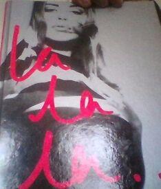 kylie,la la la,hardback book.