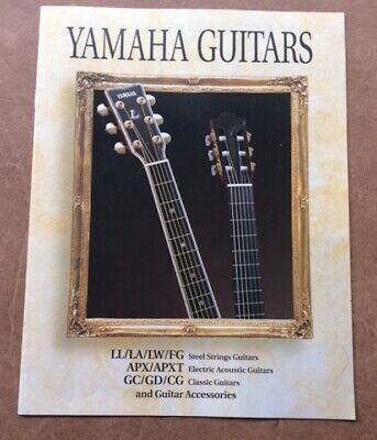 Vintage 1995 Yamaha Classic, electric acoustic folk Guitars Catalog Original