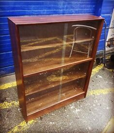 Oak Glazed Bookcase by Gibbs Furniture - Retro and Vintage