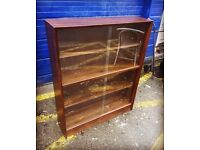 Oak Glazed Bookcase by Gibbs Furniture - Retro and Vintage