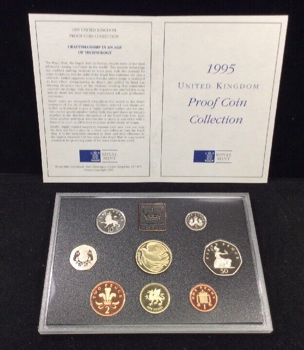1995 United Kingdom Proof Coin Collection/Original Royal Mint Package