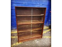 Gorgeous Vintage Oak Glazed Bookcase by Gibbs Furniture