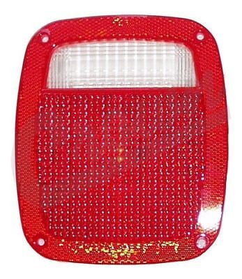 Tail Light Lens 1976 to 2006 Jeep YJ TJ Wrangler CJ5 CJ7 CJ8  Crown X J8129642 ()