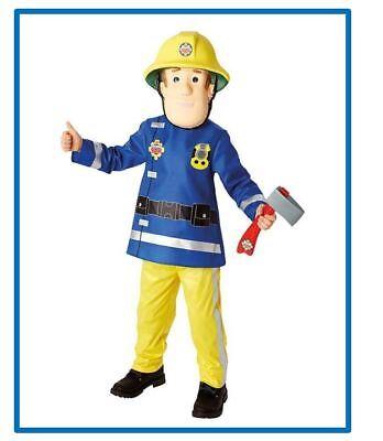 Fireman Sam Feuerwehrmann Feuerwehr Gr.M Karneval Fasching Lizenz , (K) (Sam Feuerwehrmann Kostüm)