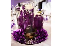 STUNNING WEDDING TABLE CENTRE PIECES VASES, CANDLES, FLOWERS