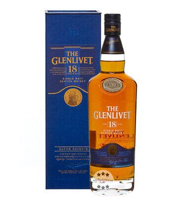The Glenlivet 18 Jahre Single Malt Whisky / 40 % Vol. / 0,7L Flasche in Karton