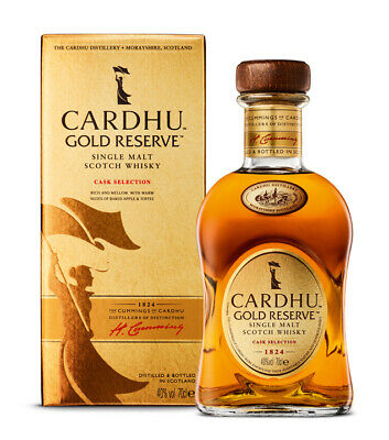 Cardhu: Gold Reserve Speyside Whisky in Geschenk-Box / 40% Vol. / 0,7 l Flasche