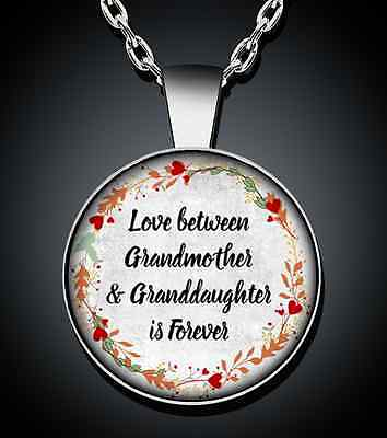 Grandma Grandmother Granddaughter Necklace Silver Pendant New Jewelry - Grandmother/granddaughter Gifts