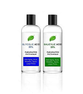 30% Glycolic Acid AHA Skin Peel + 20% Salicylic Acid BHA – Acne - 100ml + 100ml
